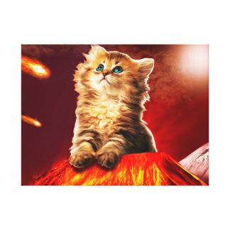 Toile chat de volcan, chat vulcan,
