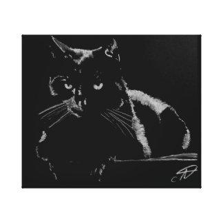 Toile Chat noir