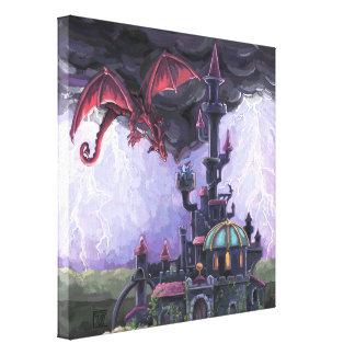 Toile Château de dragon