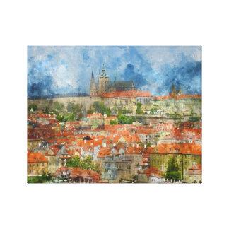 Toile Château de Prague dans la République Tchèque