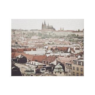 Toile Château de Prague dans la ville de la République