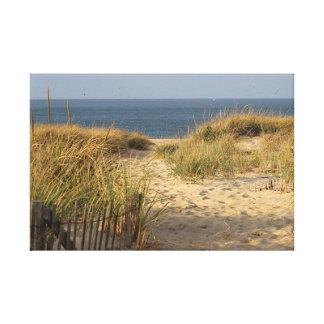 Toile Chemin à travers les dunes de sable