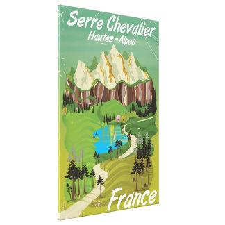 Toile Chevalier de Serre, affiche de voyage de ski de la
