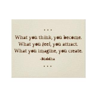 Toile Citation naturelle de zen par Bouddha