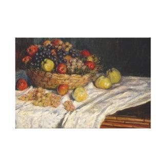 Toile Claude Monet - pommes et raisins