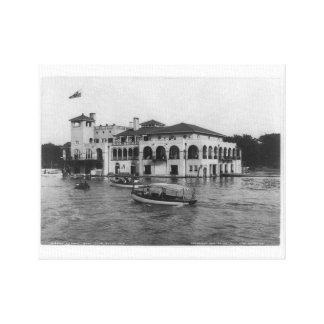 Toile Club de bateau de Detroit, île 1905 de belle