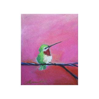Toile Colibri doux de Lil