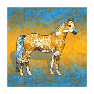 Toile Collage abstrait Beaumont le cheval ID109