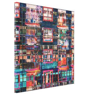 Toile Collage coloré de bâtiments