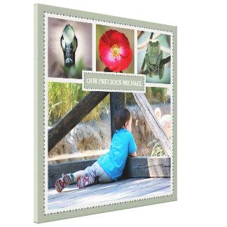 Toile Collage élégant de photo de souvenirs de famille
