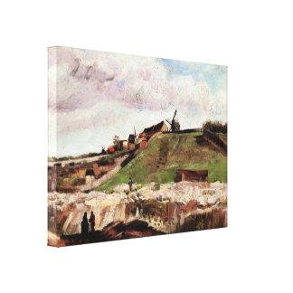 Toile Colline de Van Gogh de Montmartre avec la
