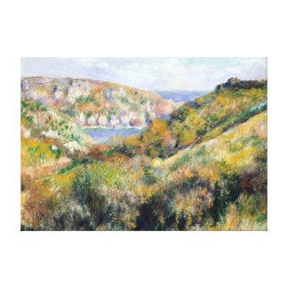 Toile Collines de Renoir autour de baie de Moulin Huet