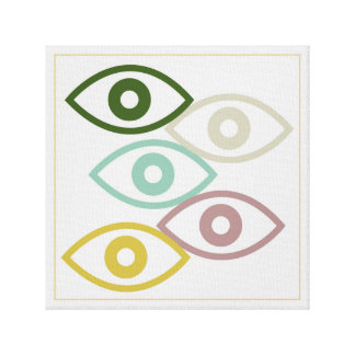 Toile colorful eyes