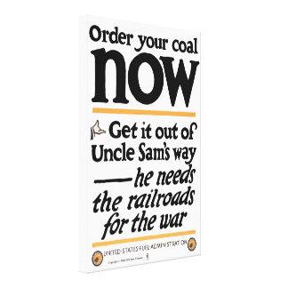 Toile Commandez votre charbon maintenant 1917