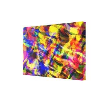 Toile Conception abstraite colorée de effacement de