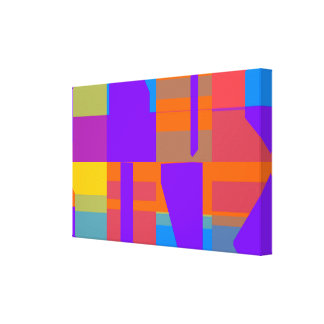 Toile Conception colorée d'abrégé sur formes