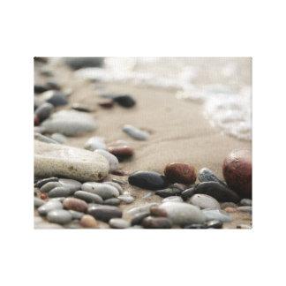 Toile Conception de photo du bord de la mer |