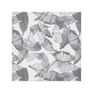 Toile Conception grise de feuille tropicale