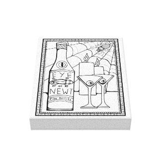 Toile Conception Martini de triton de mascarade de