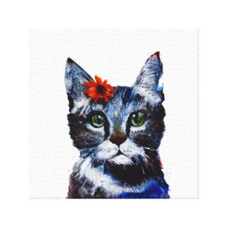 Toile Confiture d'oranges, le chat mignon qui porte une