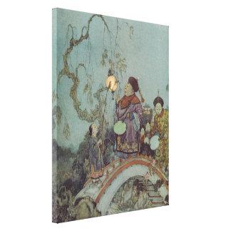 Toile Conte de fées vintage, rossignol par Edmund Dulac