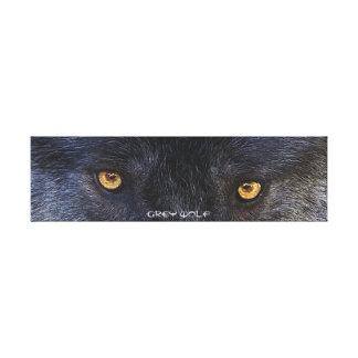 Toile Copie d'art de défenseur de faune de yeux de loup