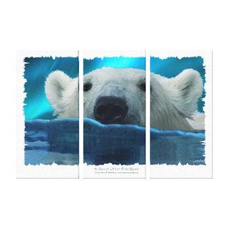 """Toile Copie de natation d'ours blanc """"À LA RECHERCHE de"""