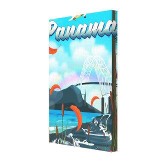 Toile Copie de vacances de rivière du Panama