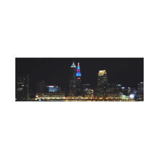 Toile Copie d'horizon de nuit de Cleveland Ohio