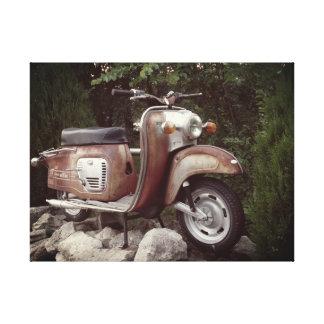 Toile Copie simple de beau vieux scooter