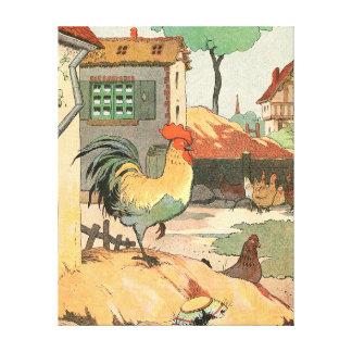 Toile Coq de ferme de la Loire