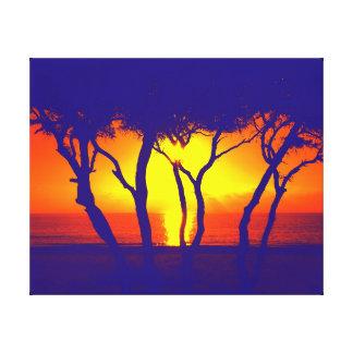 Toile coucher du soleil