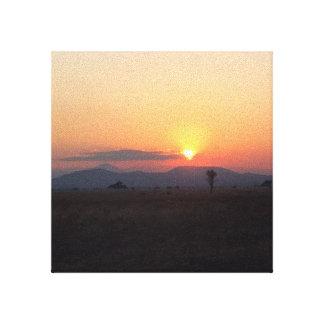 Toile Coucher du soleil africain