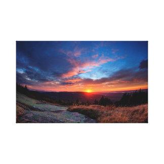 Toile Coucher du soleil de parc national d'Acadia