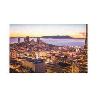 Toile Coucher du soleil de San Fran