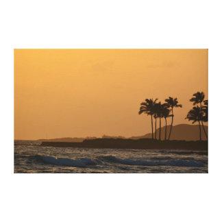 Toile Coucher du soleil d'océan de Kauai