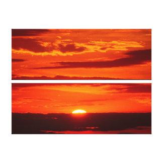 Toile Coucher du soleil orange