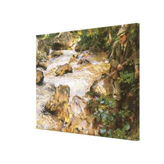 Toile Courant de truite au Tyrol par John Singer Sargent