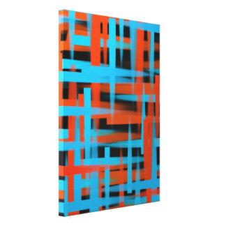 Toile Courses abstraites de brosse d'huile dans orange