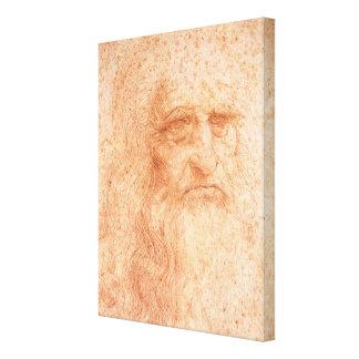 Toile Craie de rouge d'autoportrait de Leonardo da Vinci
