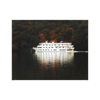 Toile Croisière de rivière d'automne