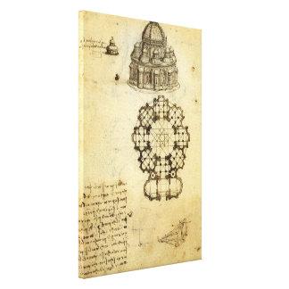 Toile Croquis architectural par Leonardo da Vinci