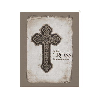Toile Cru dans la foi chrétienne croisée