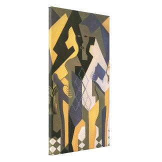 Toile Cubisme vintage, harlequin à un Tableau par Juan