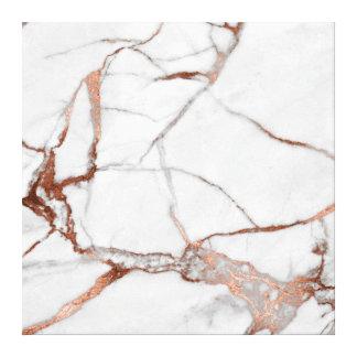 Toile Cuivre gris blanc pierre d'or rose de marbre