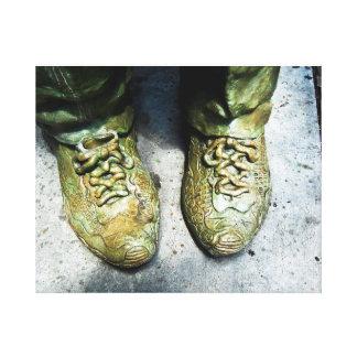 Toile Curieux de chaussure