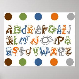 Toile d'alphabet