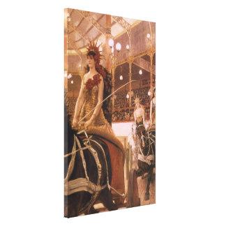 Toile Dames des voitures (cirque) par Tissot, art