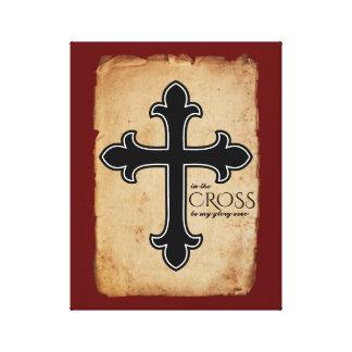 Toile Dans la foi chrétienne croisée
