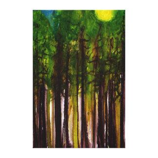 Toile Dans la forêt foncée et profondément